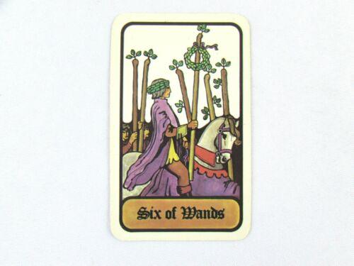 Vintage 1972 Hoi Polloi Tarot *Single Replacement Card* Six of Wands