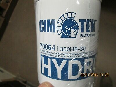 Cim-tek 70064 300hs-30 Fuel Dispenser Filter 30 Micron Diesel Water Filter