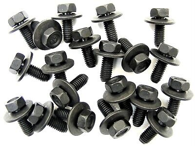BMW Body Bolts- M6-1.0 x 16mm Long- 10mm Hex- 17mm Washer- 20 bolts- #180