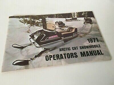 1971 ARCTIC CAT Snowmobile OPERATORS MANUAL 0134-561 LYNX PUMA PANTHER EXT Nice
