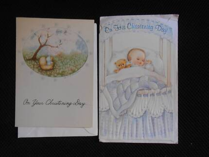 Greeting cards miscellaneous goods gumtree australia leichhardt 2 x christening cards the ink group henderson greeting cards new m4hsunfo