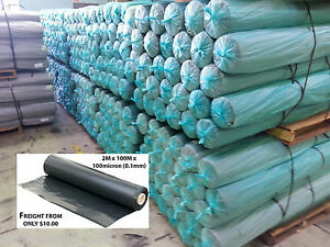 Black Poly Film - Builders Film - Plastic sheeting - 2m wide - 100m per roll
