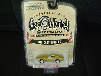 GREENLIGHT HOLLYWOOD GAS MONKEY GARAGE 1969 CHEVROLET CORVETTE NEW IN PACKAGE
