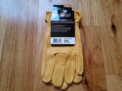 Deerskin Driver Gloves, Full Leather Work and Driving Gloves, Large-Brand New Leather Driver Work Gloves