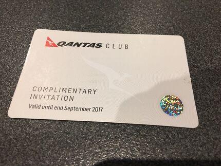 Qantas club lounge pass x1
