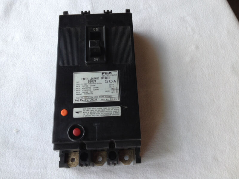 FUJI SGH63 EARTH LEAKAGE CIRCUIT BREAKER 50A
