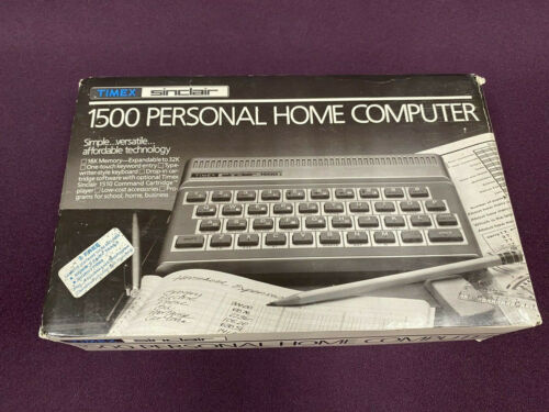 Timex Sinclair 1500 Personal Home Computer In Box  FREE SHIPPING