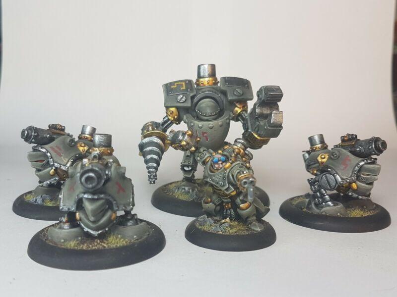 Warmachine Rhulic Mercenary Gorten Grundback and Battlegroup SD Painted