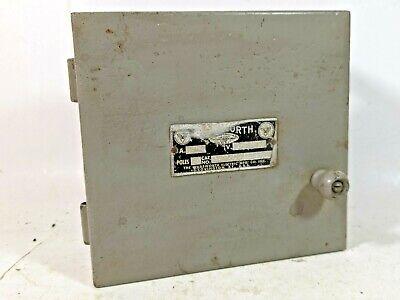 Vintage Wadsworth Metal Fuse Box Switch Steampunk Industrial Decor 30a