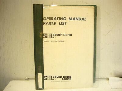 Orginal South Bend Lathe Precision Surface Grinder Operating Parts Manual