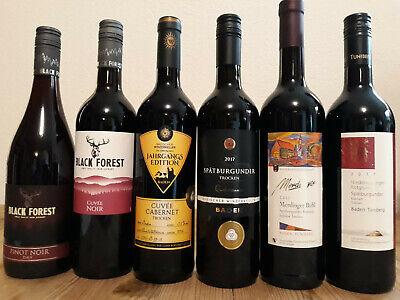 (9,33€/1L.) 6 Flaschen Probierpaket Baden Tuniberg Kaiserstuhl, trockene Rotwein