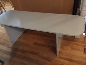 Coffee table sea glass grey- 1 available