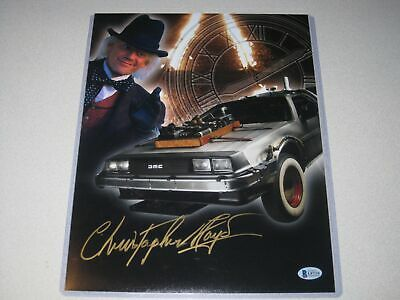 Christopher Lloyd Signed 11x14 Back to the Future Photo Autographed Beckett COA.