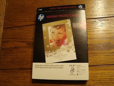 HP Holiday Photo Cards with Envelopes Genuine 20 Pack of 5