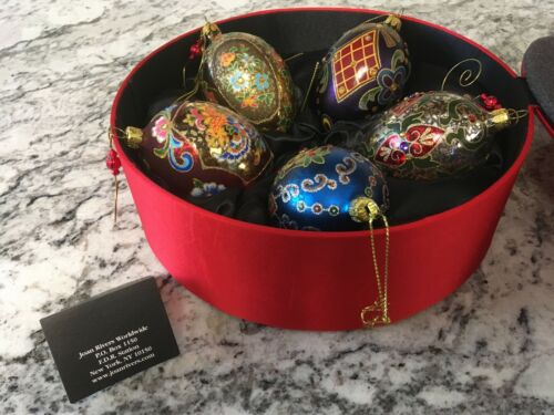 Joan Rivers Classics Collection Set of 5 Decorative Russion Egg Ornaments