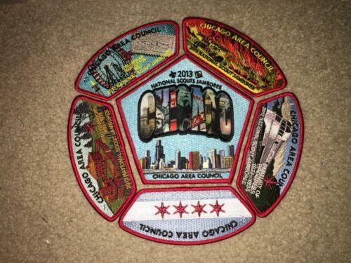 Boy Scout BSA Chicago Area Illinois Train Council 2013 Jamboree JSP Patch Set