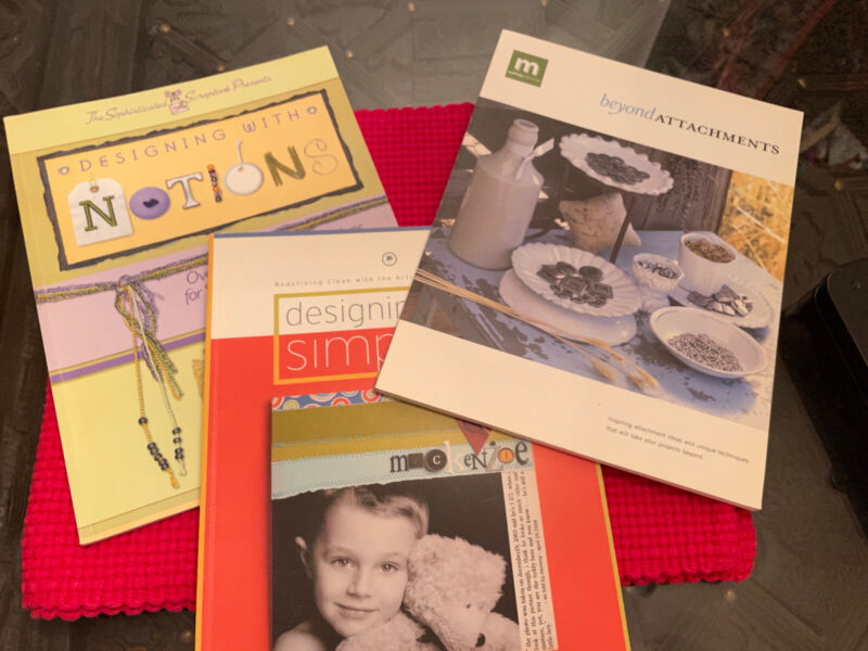 Lot of 3 Scrapbook Idea Books Designing with Simplicity, Beyond Attachements…