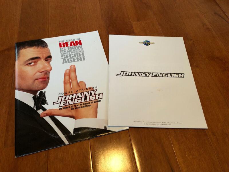 Johnny English Movie Press Kit Press Book - Rowan Atkinson