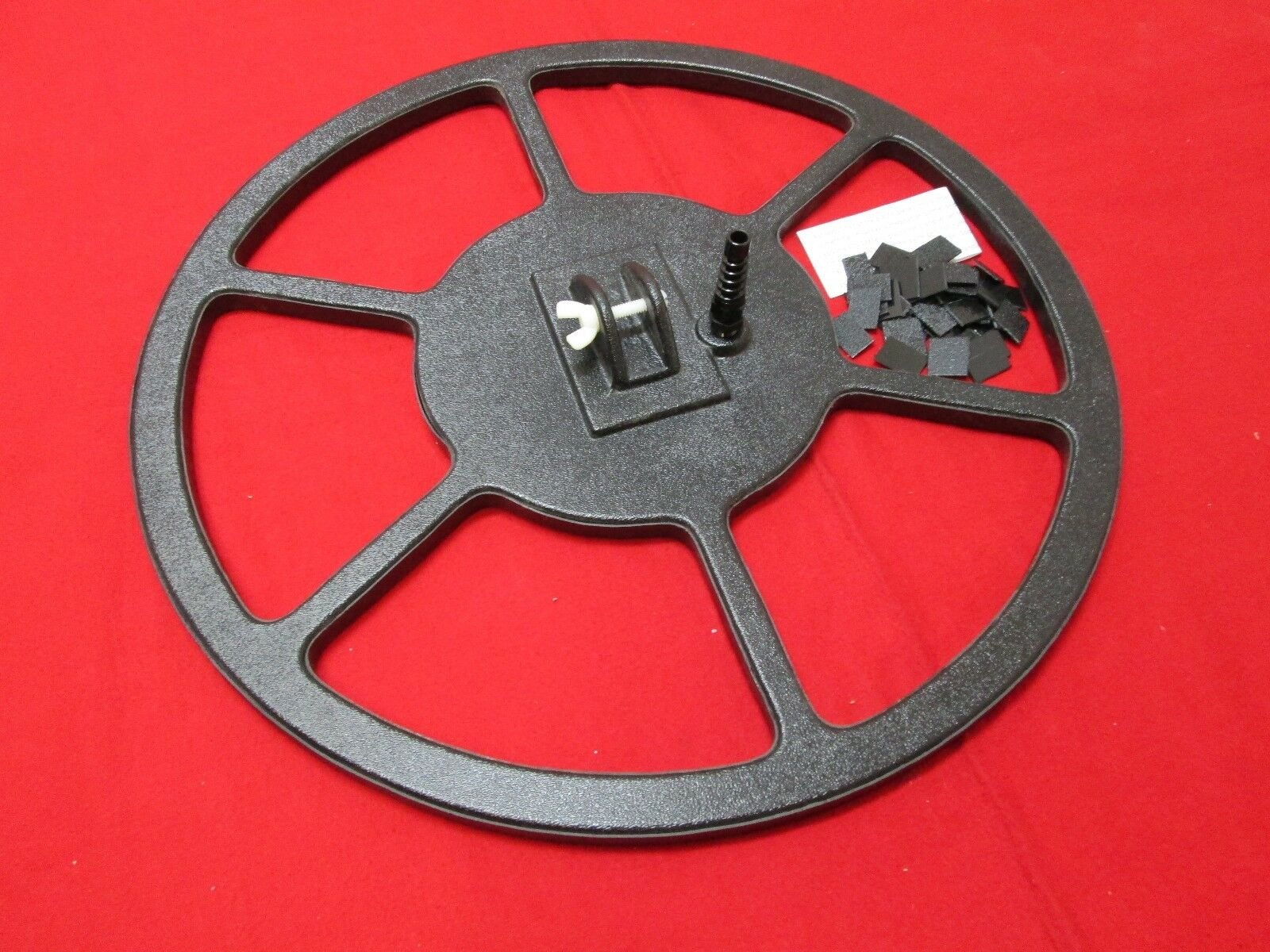 "18"" Black Metal Detector Concentric PI Coil DIY complete housing"