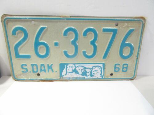 SOUTH DAKOTA MOUNT RUSHMORE MEMORIAL LICENSE DATED 1968