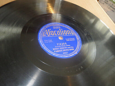 78RPM Vocalion 4227 Buddy Rogers Swing Band, Figaro / Meet Beat Heart clean V