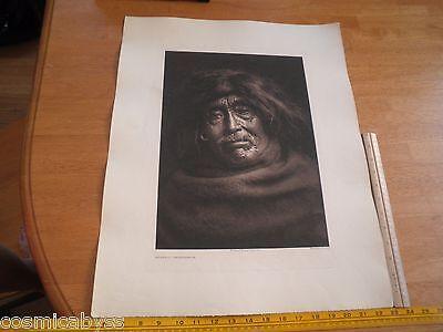 Edward S Curtis Photogravure 18x22 Tweedweave Mowakiu Tsawatenok Plate 332