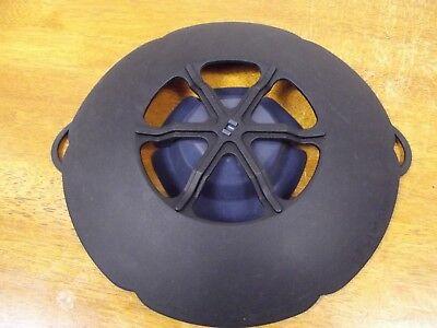 "Kuhn Rikon Kochblume Black 10"" Silicone Spill Stopper Lids Fits 5.5"" - 9"""