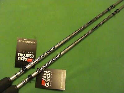 "LOT OF 2 ABU GARCIA VENGEANCE 6' 6"" MEDIUM CASTING RODS NEW!"