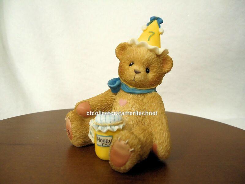 Cherished Teddies Birthday Bear Age 7  1998 NIB