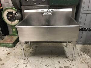 Stainless Steel Commercial Double Sink