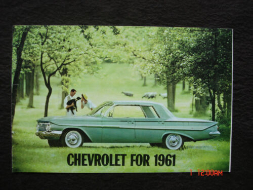 1961 Chevrolet Chevy Showroom Brochure Impala Bel Air Biscayne Corvette Corvair
