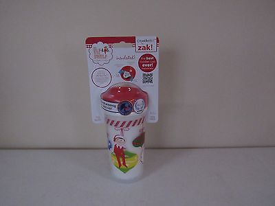 Christmas Sippy Cups (Elf on the Shelf Zak Perfect Flow Toddler Sippy Cup Christmas Holiday 8.7oz)