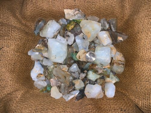500 Carat Lots of Unsearched Blue Opal Rough + a FREE faceted Gemstone
