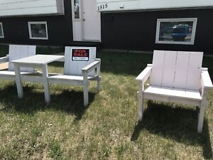 Outdoor Bench and Chair set