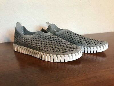 ILSE JACOBSEN Tulip 139 Perforated Slip-On Sneaker Gray Size 36 EU / 5.5-6 US