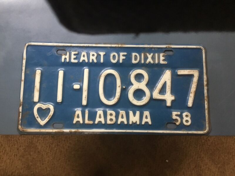1958 ALABAMA Car Tag