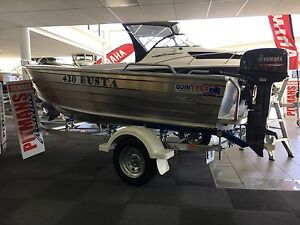 Quintrex 420 Busta Yamaha 30hp Blair Athol Port Adelaide Area Preview