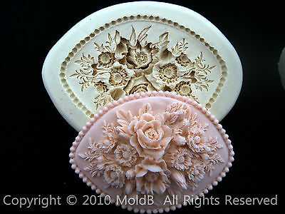 Sugarcraft Mold Mould  for Sugar Cake,Cup Cake, Clay - special rose1
