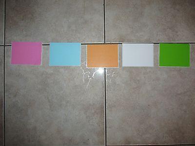 50 3x4 Self Adhesive Blank Stickers Shipping Labelsgreenwhitepinkorangeblue