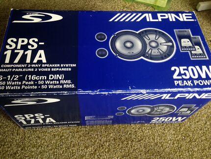"Alpine 6.5"" Type S Component/Split Speakers As New"