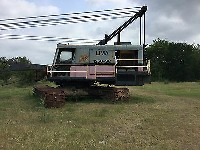 Lima 1250 Sc  Drag Line 100 Ft Boom 35yd Bucket Runs And Operates