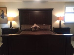 King size solid wood bedroom furniture from Ashley Furniture