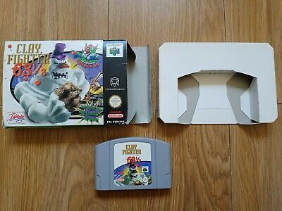 Clay Fighter 63 1/3 for Nintendo 64 N64 Boxed *ULTRA RARE GAME*
