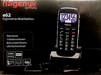 Hagenuk Mobiltelefon e62 Seniorenhandy Notruftaste Handy für Senioren Telefon