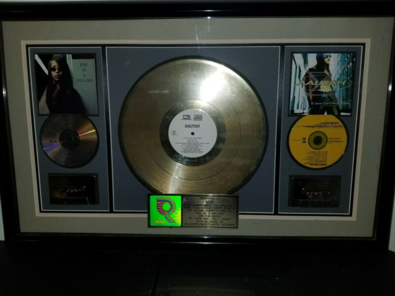 Aaliyah Authentic RIAA Gold record award for One in a Million