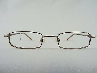 Schmale Brillenfassung Nahbrillen hellbraun für das kleine Gesicht eckig Gr. S