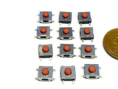 12 Pieces Smd 6 X 6 X 3 Tactile Tact Push Button Micro Switch Momentary Rohs C13