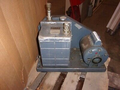 Welch 1402 Duo-seal Vacuum Pump With 12 Hp Marathon Motor