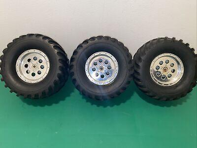 Team Associated MGT 4.6 (3) Wheels & Tires 14mm Hex Wheels Monster Truck READ!