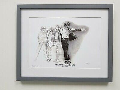 Michael Jackson Graphite Pencil Drawing, 1st Generation A3 Fine Art Prints.